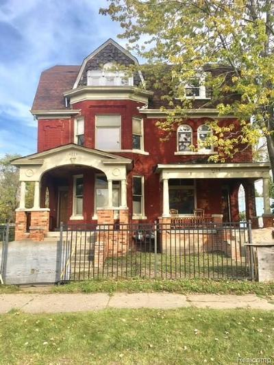 Detroit Multi Family Home For Sale: 4114 Trumbull St
