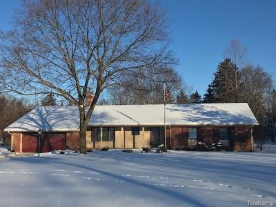 Northville Single Family Home For Sale: 19390 Clement Rd