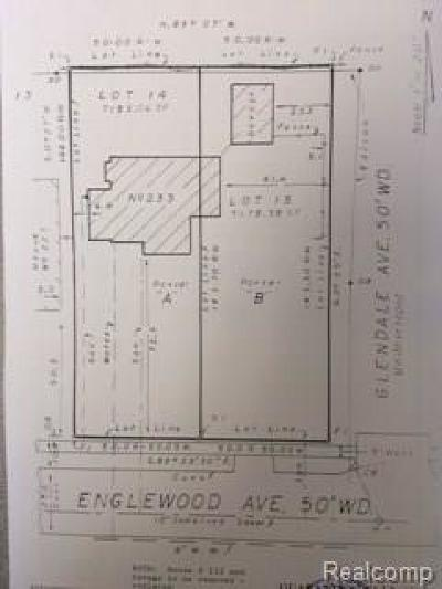 Royal Oak Residential Lots & Land For Sale: 233 Englewood Ave