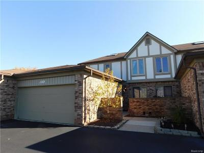 Shelby Twp MI Condo/Townhouse For Sale: $209,900