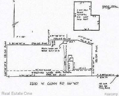 Rochester Residential Lots & Land For Sale: 2200 W Gunn Rd