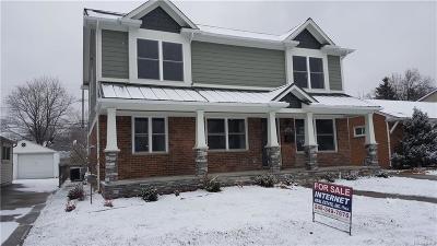 Royal Oak Single Family Home For Sale: 1322 S Wilson