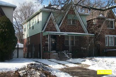Detroit Single Family Home For Sale: 15769 N Stansbury St