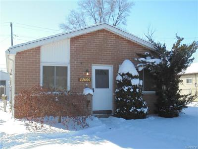 Saint Clair Shores Single Family Home For Sale: 22800 Masonic Blvd