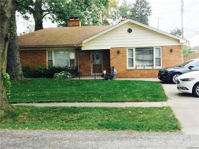 Taylor Single Family Home For Sale: 5834 Syracuse St