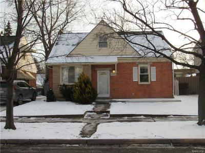 Allen Park Single Family Home For Sale: 15593 Thomas Ave
