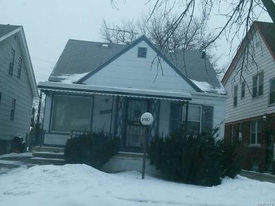 Detroit Single Family Home For Sale: 14917 Wilshire Dr