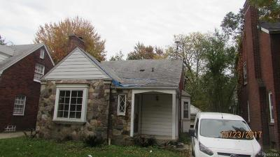 Detroit Single Family Home For Sale: 11350 Balfour Rd