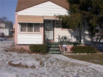 Detroit Single Family Home For Sale: 3100 S Electric St
