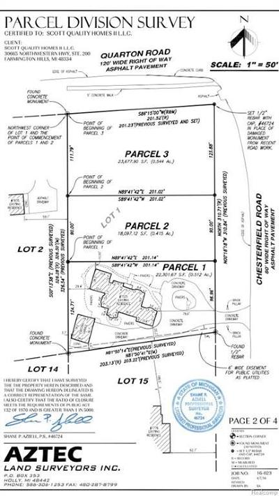 Birmingham Residential Lots & Land For Sale: 1555 Chesterfield