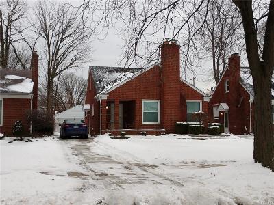 Harper Woods Single Family Home For Sale: 20296 Damman St