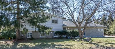Troy Single Family Home For Sale: 2981 Townhill
