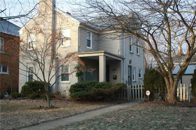 Grosse Pointe Park Single Family Home For Sale: 1393 Grayton St