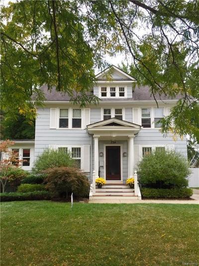 Birmingham Single Family Home For Sale: 724 Madison St