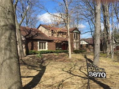 Rochester Hills Single Family Home For Sale: 3670 Winter Creek Rd