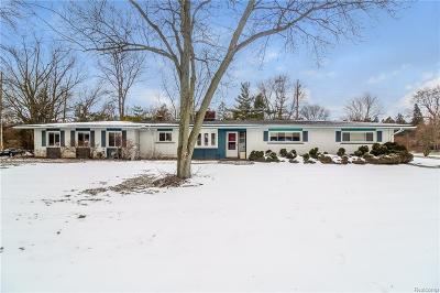 Bloomfield Hills Single Family Home For Sale: 6861 N Adams Rd
