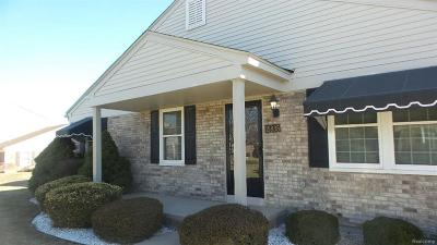 Clinton Township MI Condo/Townhouse For Sale: $124,900