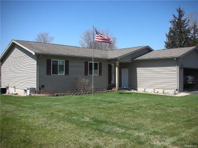Lapeer Single Family Home For Sale: 1481 Roods Lake Rd