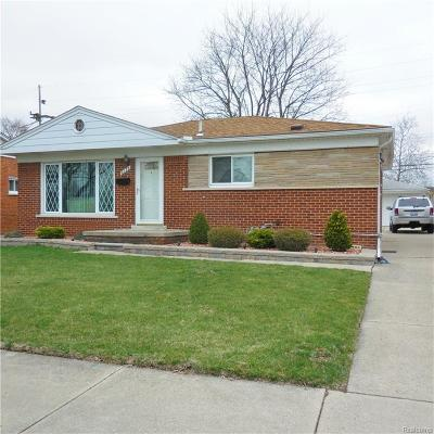 Dearborn Heights Single Family Home For Sale: 6734 Cronin