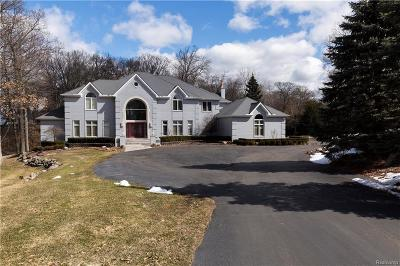 Bloomfield Hills Single Family Home For Sale: 7515 Hiddenbrook Ln