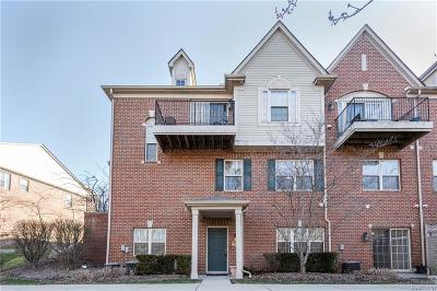 Northville Condo/Townhouse For Sale: 39668 Rockcrest Ln