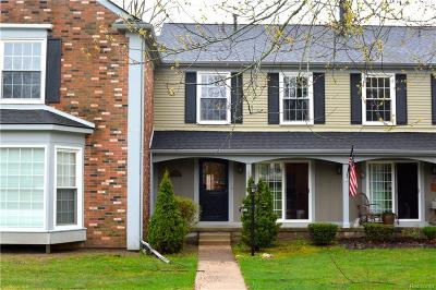 Rochester Hills Condo/Townhouse For Sale: 1288 Brook Ln