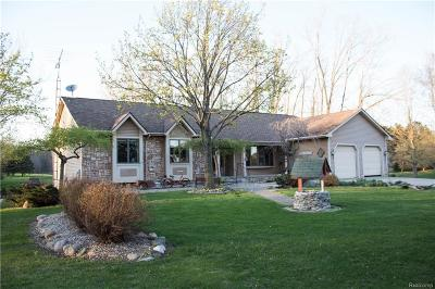 Lapeer Single Family Home For Sale: 5845 Lum Rd