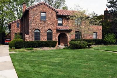 Grosse Pointe Park Single Family Home For Sale: 820 Berkshire Rd