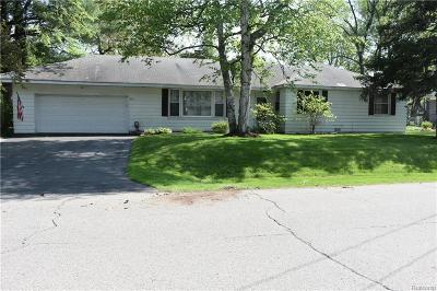 Troy Single Family Home For Sale: 584 Colebrook Dr