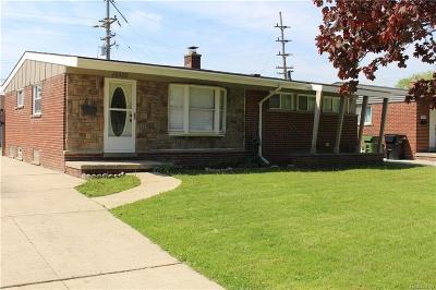 Allen Park Single Family Home For Sale: 19325 Herrick St