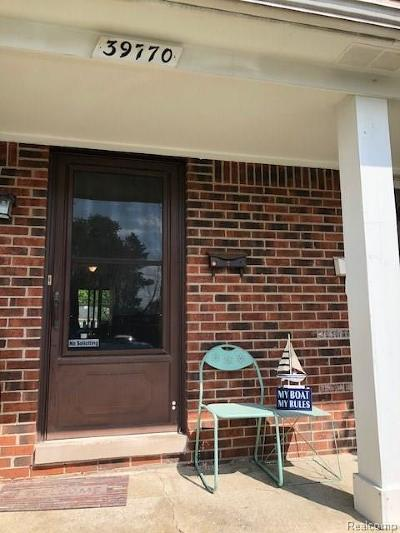 Harrison Twp Condo/Townhouse For Sale: 39770 Manor Dr