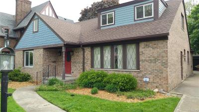 Grosse Pointe Park Single Family Home For Sale: 1420 Three Mile Dr