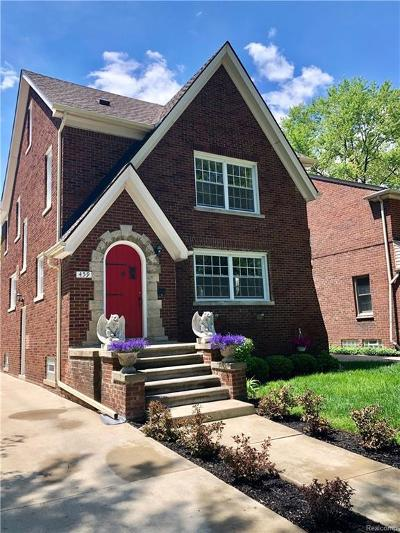 Grosse Pointe Farms Single Family Home For Sale: 459 McKinley Ave