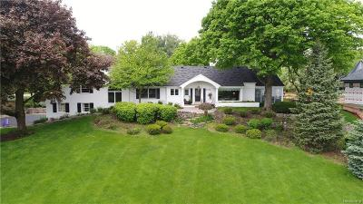 Bloomfield Hills Single Family Home For Sale: 6796 Meadowlake Rd