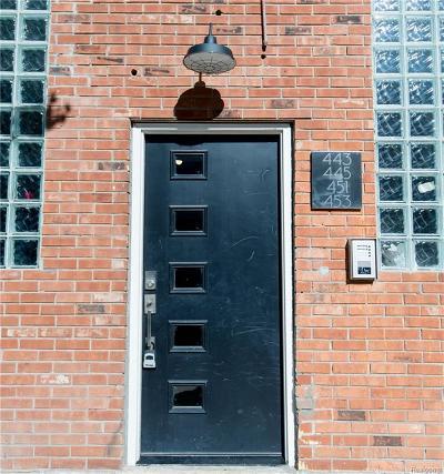 Detroit Condo/Townhouse For Sale: 445 E Milwaukee St