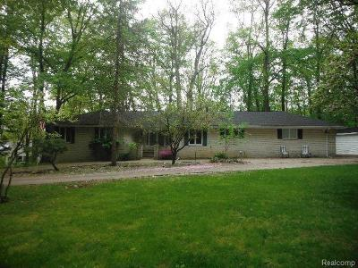 Rochester Hills Single Family Home For Sale: 6090 N Rochester Rd