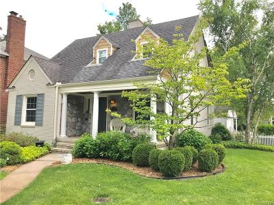 Grosse Pointe Farms Single Family Home Sold: 431 Touraine Rd