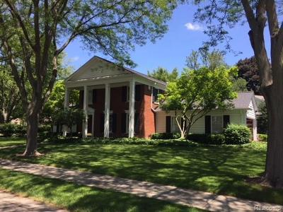 Bloomfield Hills Single Family Home For Sale: 490 Tilbury Rd