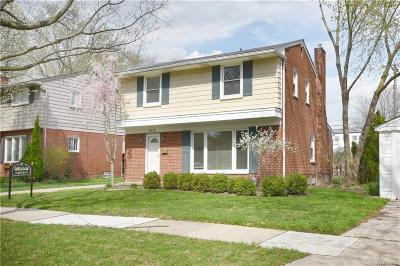 Royal Oak Single Family Home For Sale: 3614 Hillside Dr
