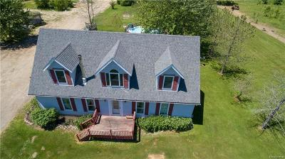 Lapeer Single Family Home For Sale: 4223 Cade Rd
