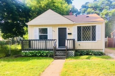 Hazel Park Single Family Home For Sale: 1210 E Madge Ave N