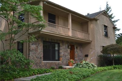 Bloomfield Hills Single Family Home For Sale: 711 Wooddale Rd