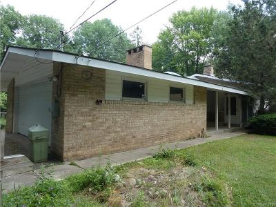 Bloomfield Hills Single Family Home For Sale: 610 Ridge Rd