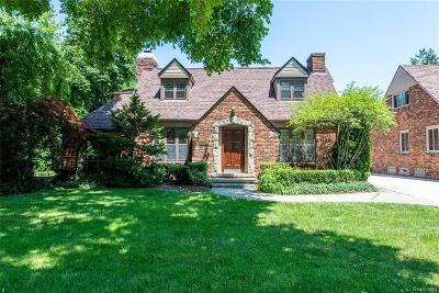 Grosse Pointe Park Single Family Home Sold: 518 Barrington Rd