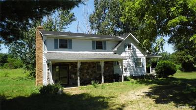 Lapeer Single Family Home For Sale: 3556 Hutchinson Rd