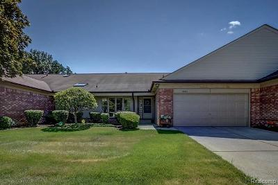 Clinton Township Condo/Townhouse For Sale: 38612 N Birch Meadow Dr