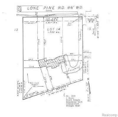 Bloomfield Hills Residential Lots & Land For Sale: 1455 Lone Pine Road Rd