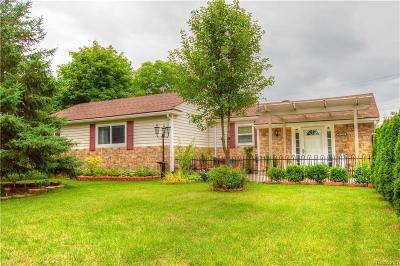 Farmington Hills Single Family Home For Sale: 34735 Bridgeman St