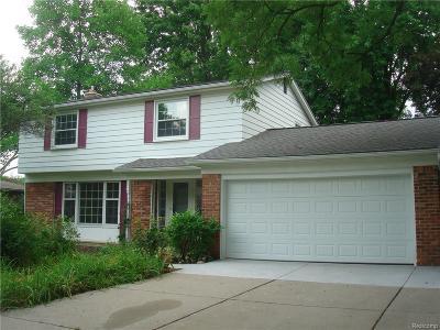 Troy Single Family Home For Sale: 3856 Boulder Dr
