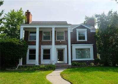 Grosse Pointe Park Single Family Home For Sale: 1456 Balfour St